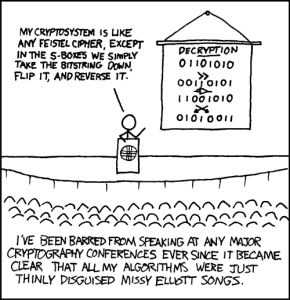 Don't be stupid. Use standard ciphers!