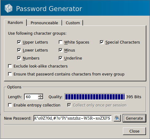 Generating Secure Passwords