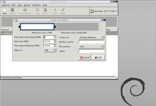 Managing Hard disk partitions using GParted live – Free and Open